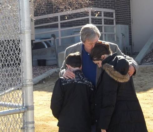 John McTiernan Bids Children Farewell in 2013 (family photo)
