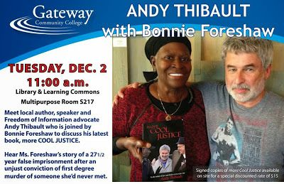 Andy Thibault and Bonniw Foreshaw, Gateway Community College Appearance