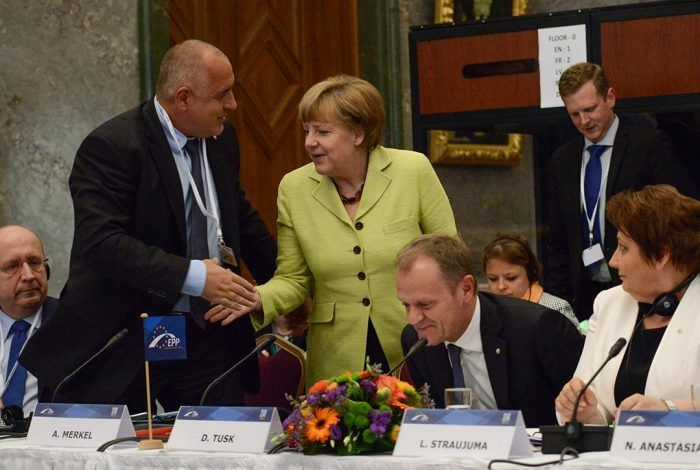 Angela Merkel and Bulgarian PM Boyko Borissov Gatis Rozenfelds / Wikimedia