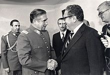 Chilean Gen. Augusto Pinochet and Secretary of State Henry Kissinger