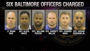 Baltimore Police Charged Six Suspects KTLA