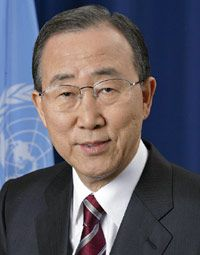 UN Secretary-General Ban-Ki Moon UN Portrait