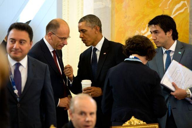 Barack Obama Italian Prime Minister Mario Conte