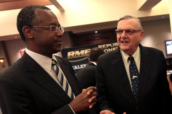 Ben Carson and Arapaho County Sheriff Joe Arpaio at Wake Up America event (Gage Skidmore photo via Flickr)
