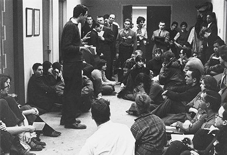 Bernie Sanders at 1962 University of Chicago CORE sitin Danny Lyon photo