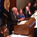 Bernie Sanders National Press Club March 9, 2015 Andrew Kreig photo