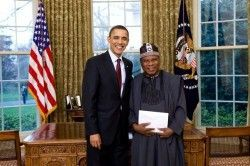 Ade Adefuye and Barack Obama