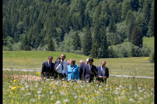 President Obama with G-7 leaders in Bavaria June 7, 2015