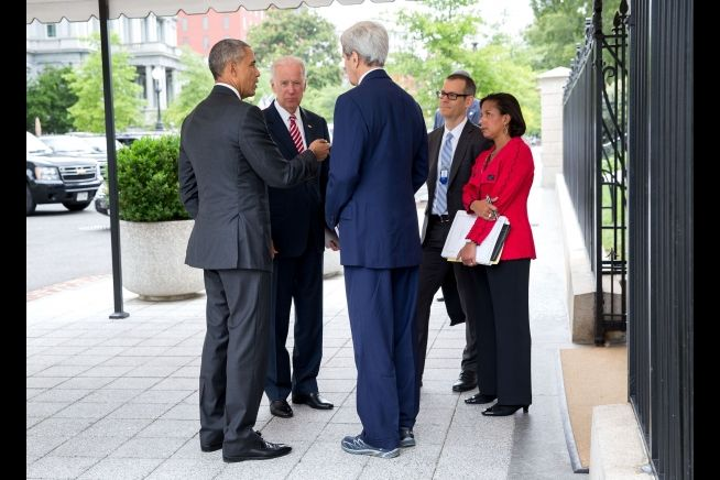 President Obama, John Kerry, Susan Rice and Colin Kahl July 15, 2015