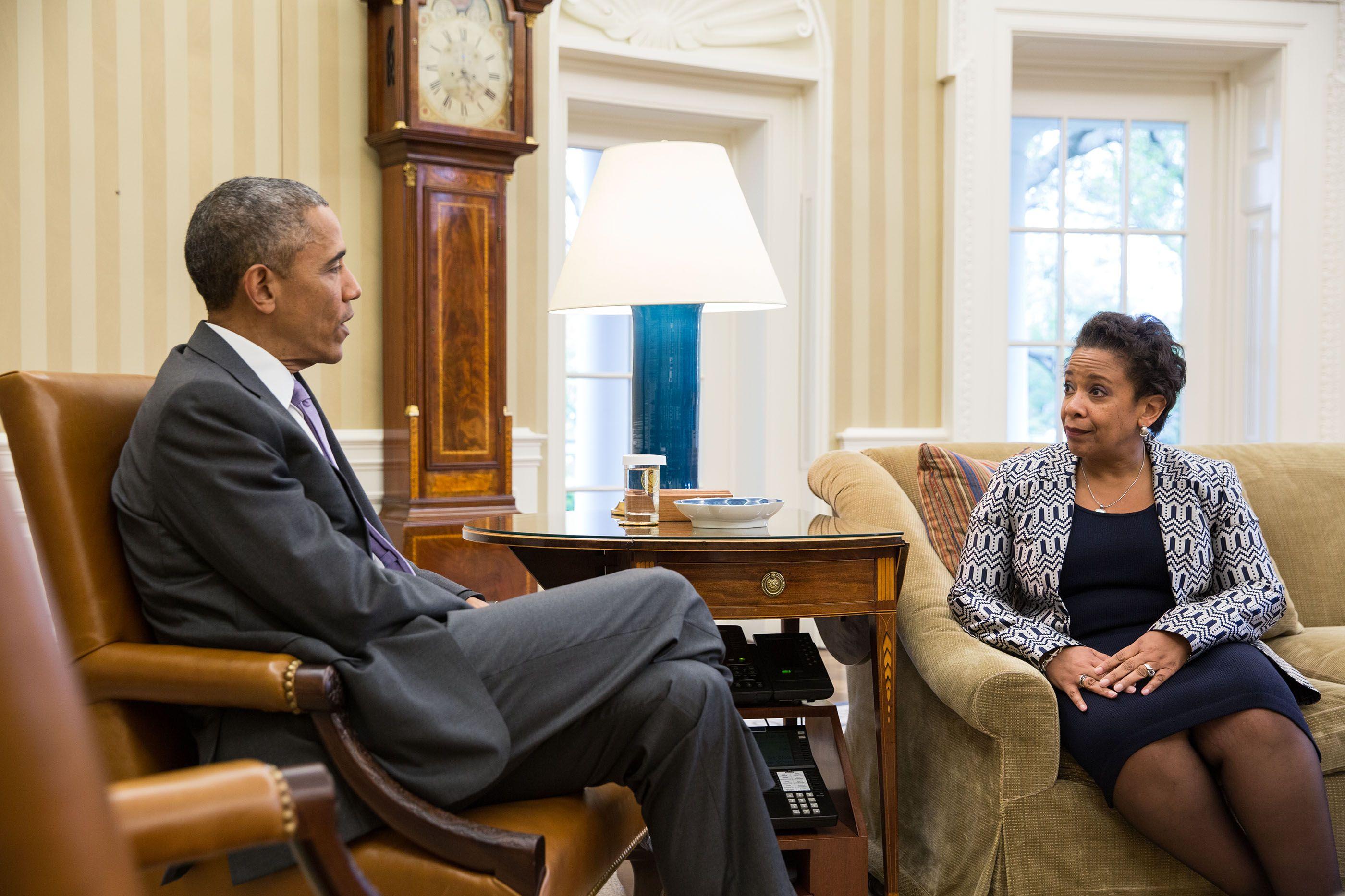 President Obama and Loretta Lynch April 27, 2015