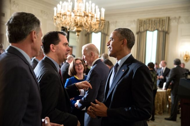Barack Obama, Scott Walker, Peter Shumlin, Joe Biden, Feb. 22, 2016
