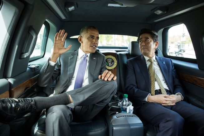 President Obama with Japane's Prime Minister Shinzo Abe, April 27, 2015