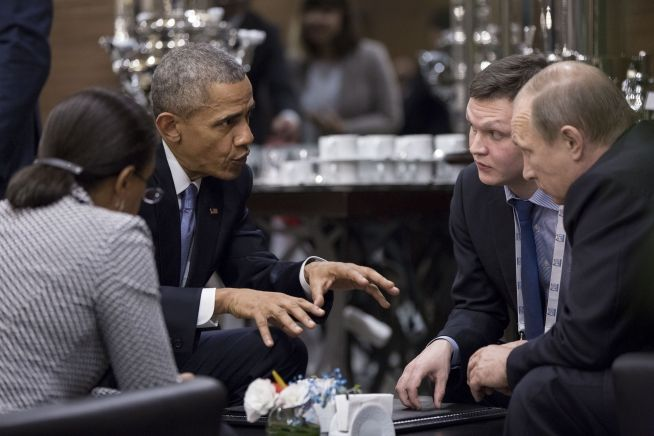 President Obama, Russian President Vladimir Putin, Susan Rice confer in Turkey 11-15-15