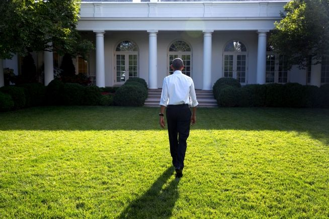 President Obama walks toward White House June 13, 2016