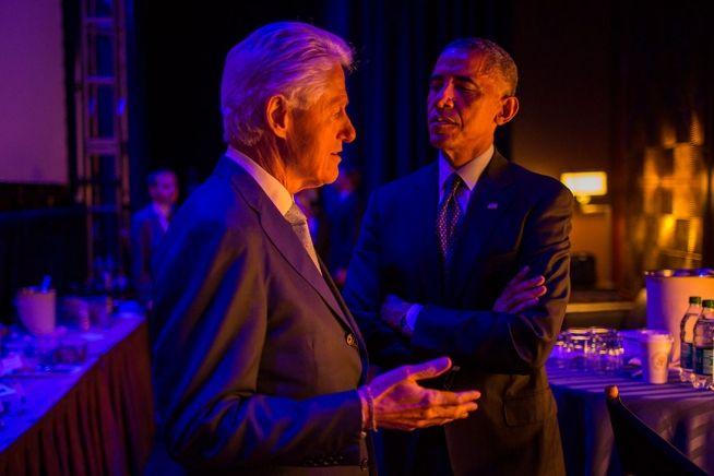 Barack Obama and Bill Clinton Sept. 23, 2014