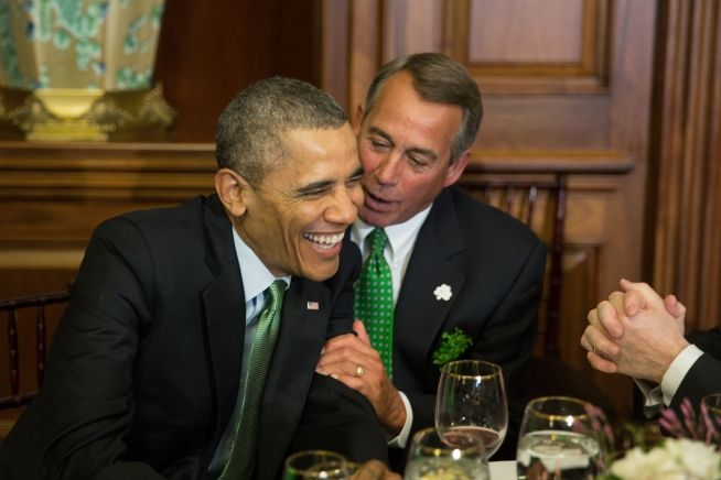 Barack Obama and John Boehner St. Patrick's Day Lunch March 14, 2014