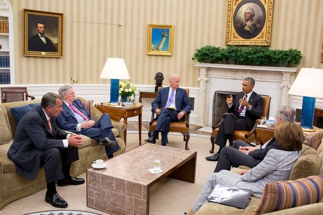 President Obama and congressional leaders Sept. 9, 2014