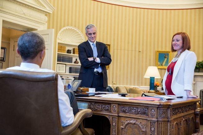 President Obama, Denis McDonaugh, Jen Psaki April 1, 2015