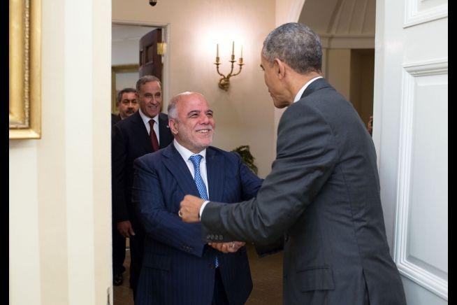 President Obama meets Iraq PM Haider Al Abadi, April 14, 2015
