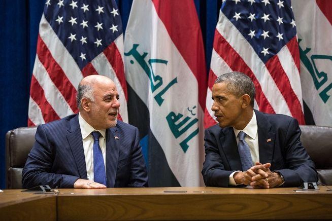 Barack Obama and Iraq Prime Minister Haider Al-Abadi Sept. 24, 2014