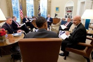 Barack Obama, James Clapper, John Brennan and national security team