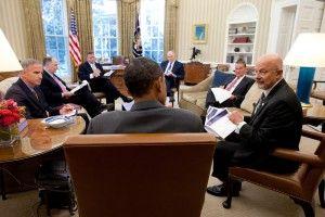 Barack Obama, James Clapper, John Brennan and national security team