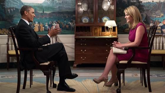 Barack  Obama and Jenna Bush Hager June 11, 2014 Today Show, White House Photo