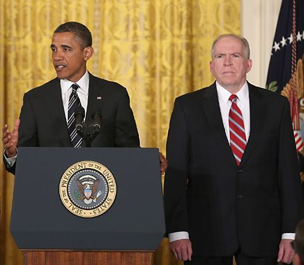 Barack Obama and John Brennan, Jan. 7, 2013