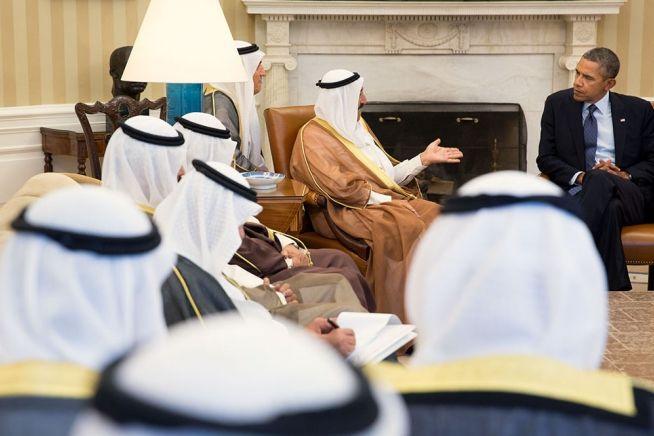 Barack Obama and Kuwait Emir His Highness Sheikh Sabah Al-Ahmad Al-Jaber Al Sabah
