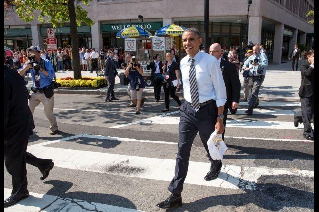 Barack Obama lunch Oct. 4,2013