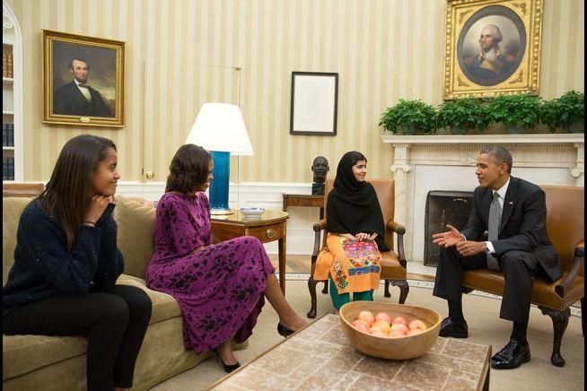 Barack Obama Malala Yousafzaip Malia 10_11_13 1.jpg
