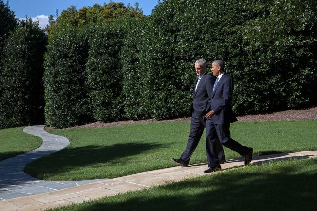 Barack Obama and Denis McDonough