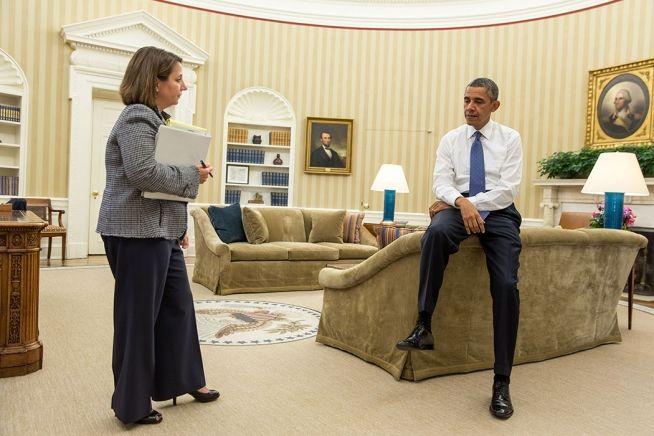 Barack Obama and Lisa Monaco