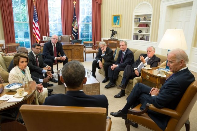 Barack Obama and Nancy Pelosi, Oct. 15, 2013