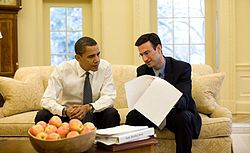 President Obama and Peter Orszag