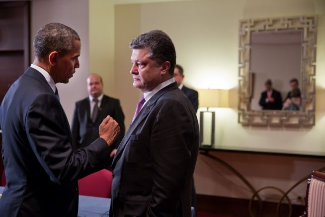 Barack Obama and Petro Poroshenko June 4, 2014