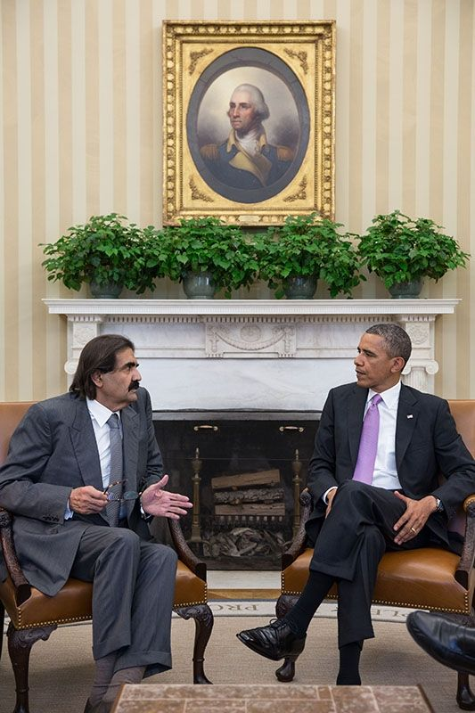 President Obama Welcomes Amir Hamad bin Khalifa al-Thani of Qatar April 23, 2013