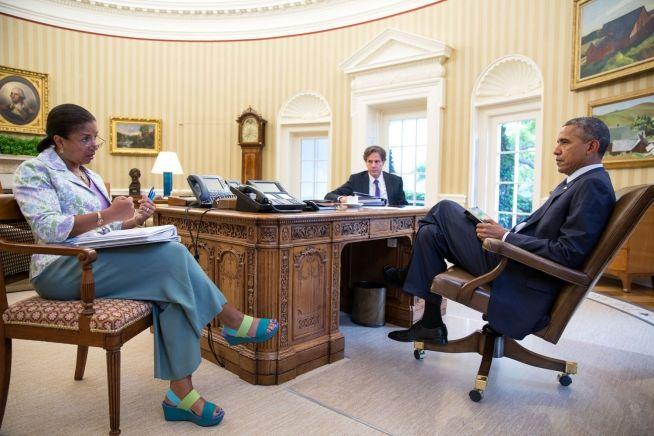 Barack Obama, Susan Rice, Tony Blinken Aug. 1, 2014
