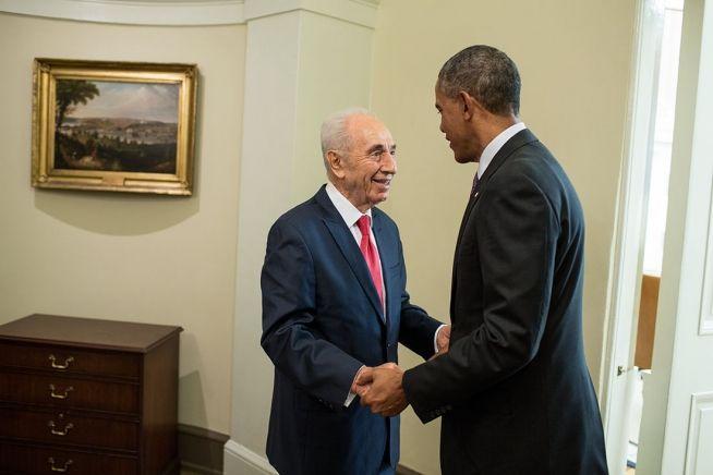 Barack Obama and Shimon Peres June 25, 2014