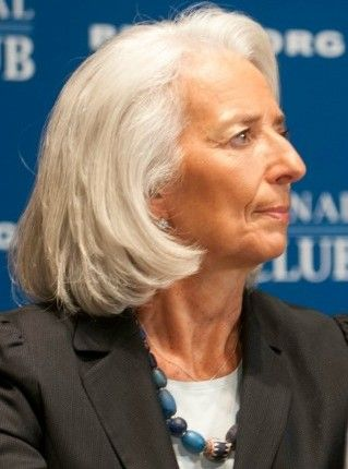 Christine LaGarde at National Press Club (Photo courtesy Noel St. John)