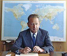 Dag Hammarskjold at desk