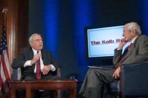 Dan Rather and Marvin Kalb at National Press Club (Noel St. John Photo)