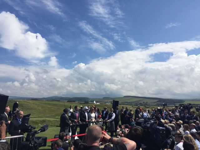 Donald Trump ribbon cutting at new Trump Turnberry golf course June 24, 2016 Andrew Learmonth via Twitter