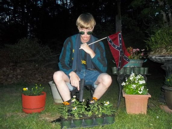 Dylann Roof pistol and flag Facebook
