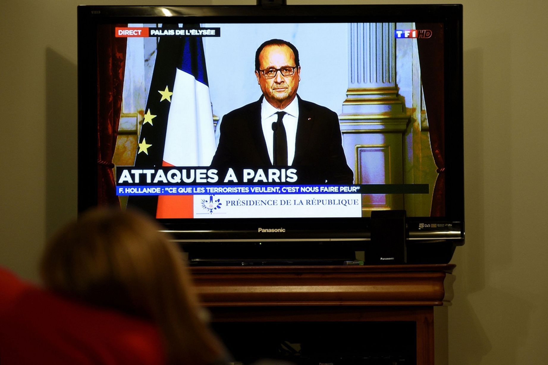 French President Francois Hollande after 11-13-15 attack
