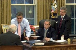 George W. Bush, Dick Cheney, George Tenant and Andy Card