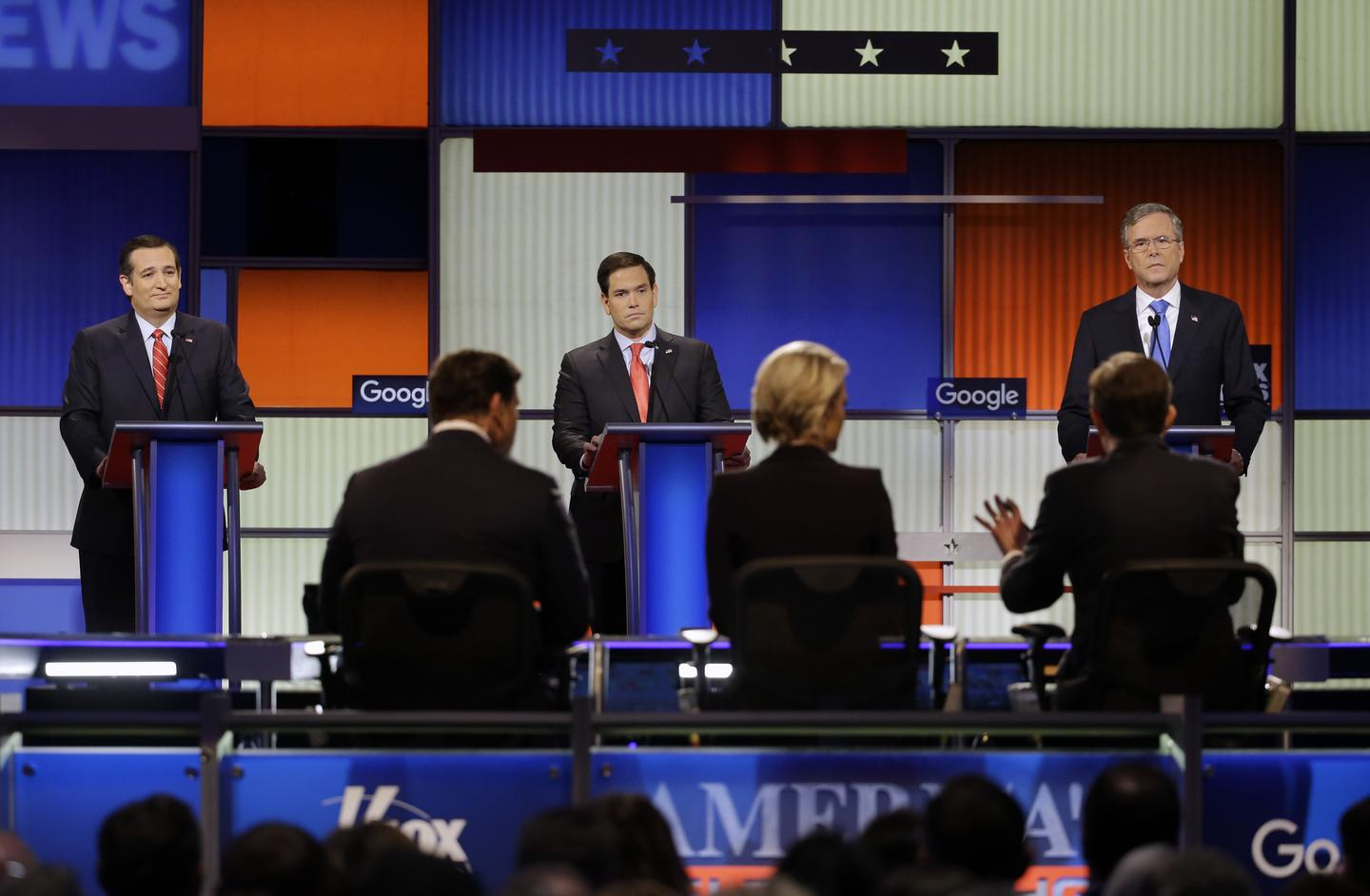 GOP Debate Jan. 28, 2016, Ted Cruz, Marco Rubio, Jeb Bush, Fox News