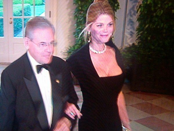 Gwendolyn Beck and Bob Menendez via Twitter