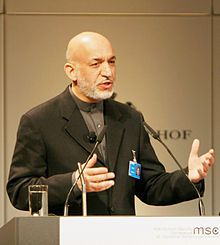 Hamid Karzai 2009 at Munich Security Conference Wikimedia Commons
