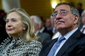 Hillary Clinton and Leon Panetta Munich, Germany, Feb. 4, 2012 DoD photo